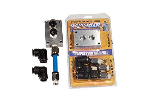 Rapidair 90200 Compressor Manifold Kit for 1/2-Inch Nylon Tubing ()