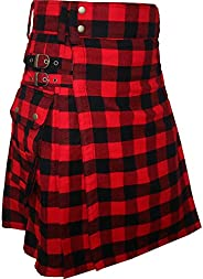 Best Modern Acrylic Wool Fashion Utility Kilt for Active Men&#