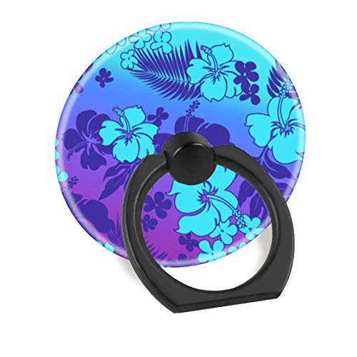 Cell Phone Finger Ring Holder Stand Car Mount Works for iPhone 5 6 7 8 X Plus Samsung Galaxy S8 S9 Ipad-Hawaiian Hibiscus Aloha ()