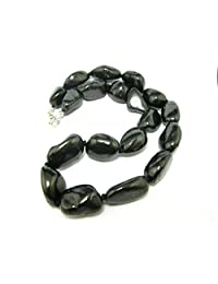 """Shungite Necklace Beads From Russia - 20mm Freeform Beads - 19"""""""