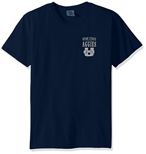 NCAA Utah State Aggies Adult Unisex NCAA Limited Edition Comfort Color Short sleeve T-Shirt,XL,TrueNavy