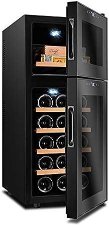 VIY Nevera vinos Vinoteca 15/6 Botellas 59 litros de Capacidad Temperatura Regulable Panel táctl Display Digital luz LED Dual-Zone 110 W