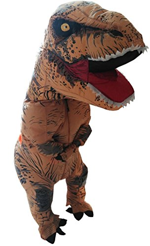 Skinz Adult Mega Suit Inflatable Zentai Costume - T-Rex Dinosaur (Large (6-6'2 / 165-190lbs)) (Inflatable Body Costume)