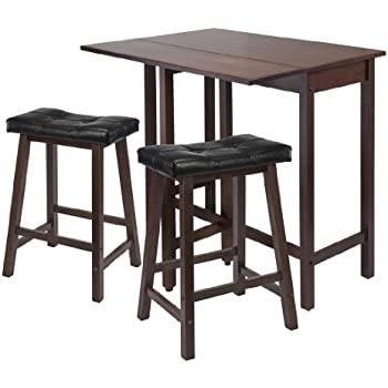 Amazon.Com - Winsome Lynnwood Drop Leaf Kitchen Table With 2