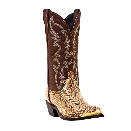 Laredo by Dan Post Snake Print Western Boots Gold -