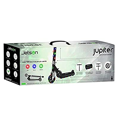 Scooters Jetson Jupiter with LED Lights - Black: Sports & Outdoors
