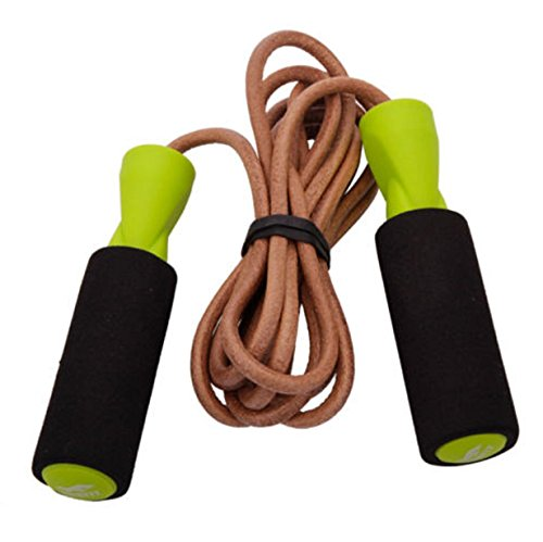Rope Skipping Jump Speed Bold Leather Crossfit RPM RX Fitness Gym Training Exercise (Natural Cotton Twist Rope)