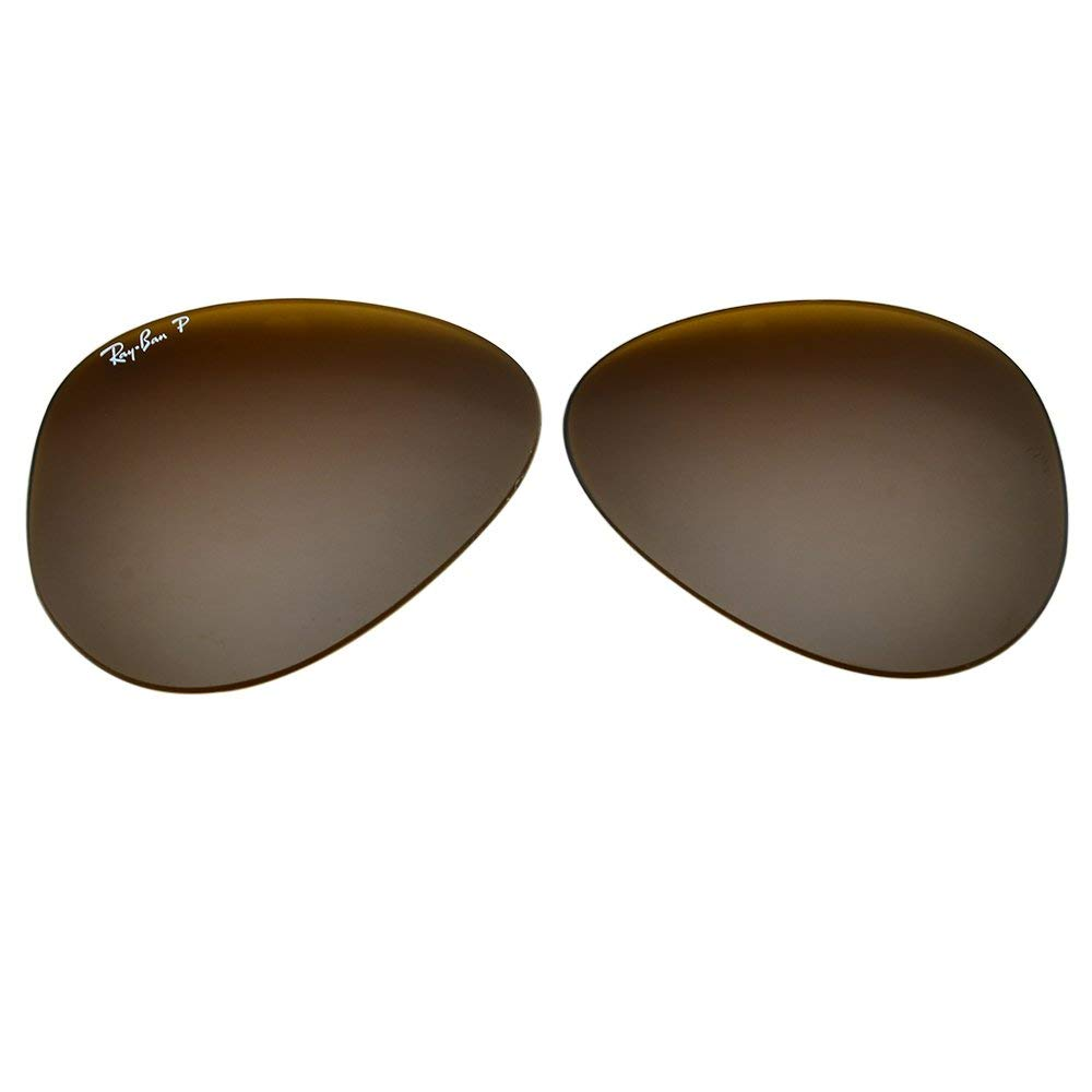 7fb2f25df4d Amazon.com  Ray-Ban Polarized Glass Replacement Lens 4 RB3025 Aviator  X-Large Brown 62mm  Clothing