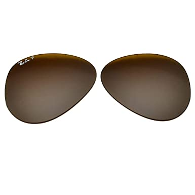 2b54d897ee9 Amazon.com  Ray-Ban Polarized Glass Replacement Lens 4 RB3025 Aviator X- Large Brown 62mm  Clothing