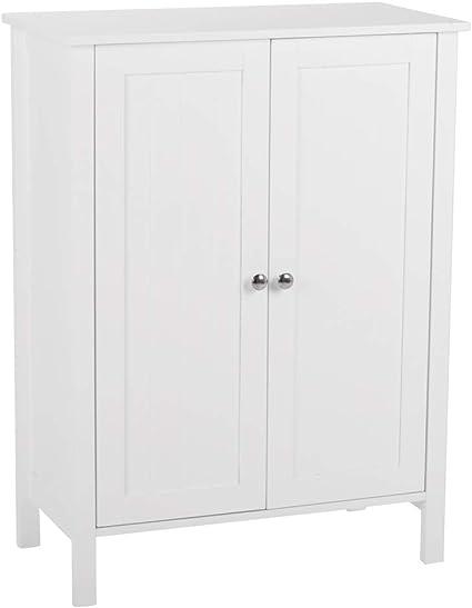 Vanhon FCH One Door /& One Drawer Bathroom Cabinet Household Multifunction Bathroom Organizer Toilet Storage Floor Cabinet Shelf Single Door with Drawer Space-Saving Free Standing