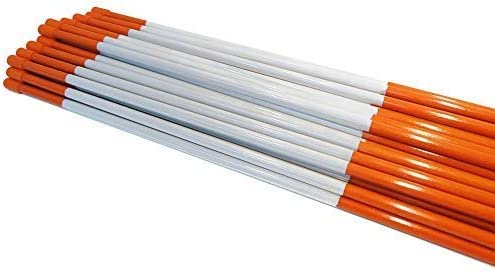 Snow Poles 48 inches 5//16 inch Rods Stakes Pack of 50 Driveway Markers