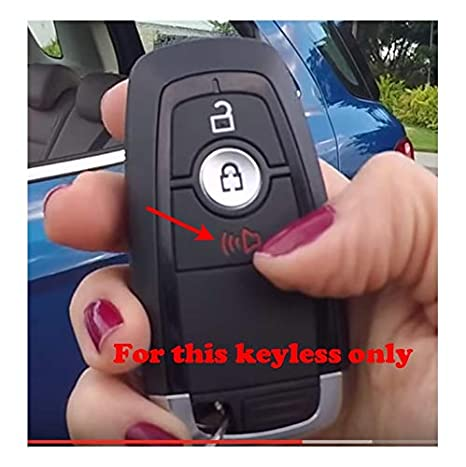 Fricgore Color Name:Black Car Key Cover Protector/_Silicone key fob case cover skin hood for ford Explorer EcoSport mondeo edge Taurus Flex Escape Mustang F250 F350 remote protect