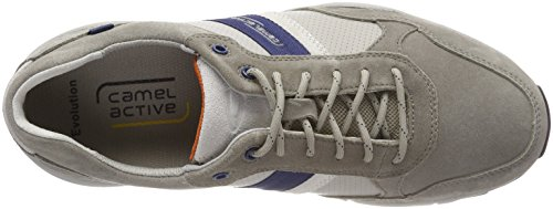 camel active Herren Evolution 36 Sneaker Grau (Grey/Lt.Grey/White)