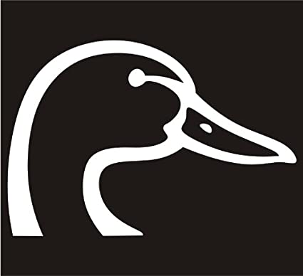 Duck head duck face decal sticker laptop notebook window car bumper