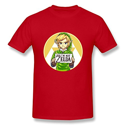 (ToWi Men's The Legend Of Zelda Link O-Neck Shirt Red)