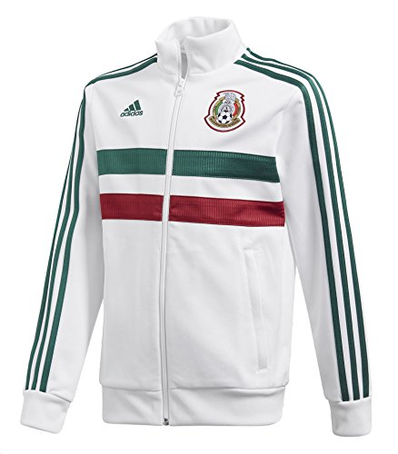(adidas World Cup Soccer Mexico Youth Boys Kids Soccer 3 Stripes Mexico Track Top, Large,)