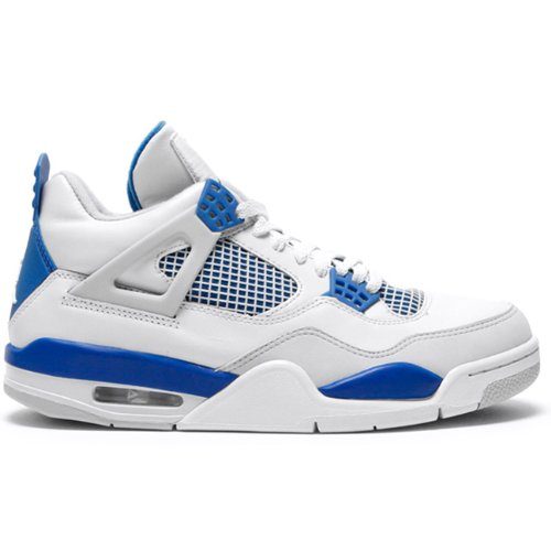 Nike Air Jordan 4 Retro White Military Blue Grey (308497-...