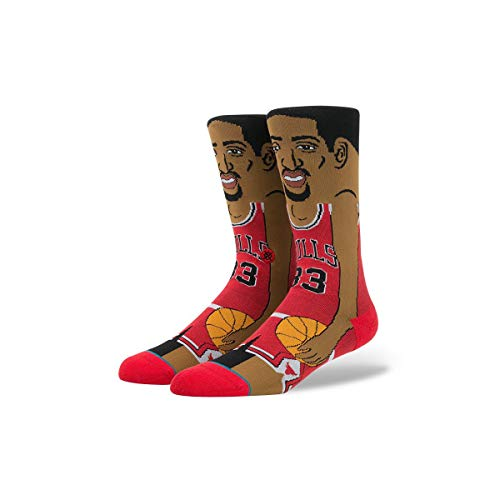 Stance Men's S. Pippen Red Socks LG
