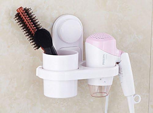 Bathroom Bath Hair Care Dryer Holder Stand Storage Organizer Wall Mounted Rack