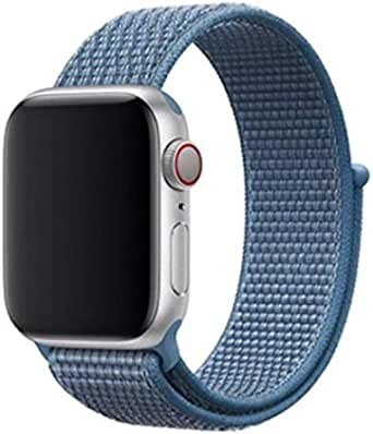 Sport Nylon Loop Watch Band For For Apple Watch 44mm - Cape Cod Blue