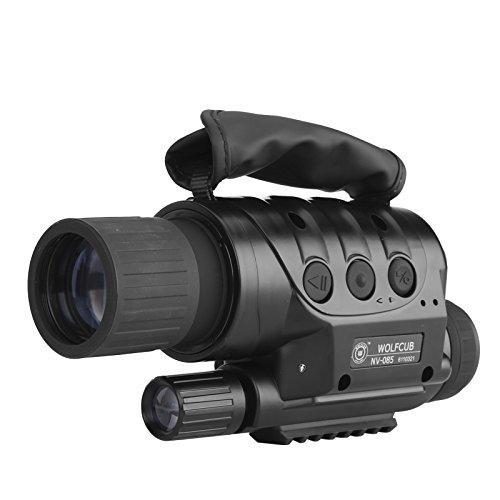 NV-440D+ Night Vision Monocular - 560M range, 4 x Zoom, 16GB Micro SD Slot, 1.3MP CCD, Built-in ()