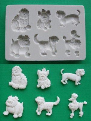 Moldes Decoración Tarta Silicona Perros Animales Divertidos 2-3D Ideal Para Decoración Cupcakes Hornear Y Crear: Amazon.es: Hogar