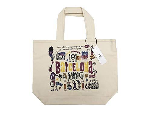 [サッカージャンキー] 刺繍トートバッグ 「BARCELONA」 SJJG001 キャンバス   B07P551J62