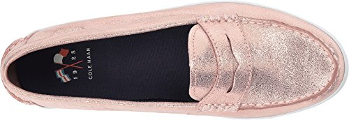 Cole Haan Dames Nantucket Loafer Ii Stoffige Rose Shimmer Metallic / Optic White