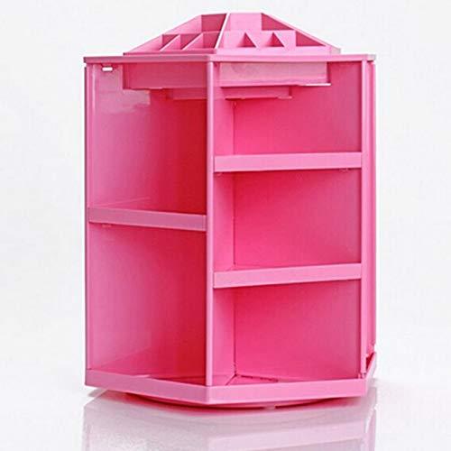 Hot Big Capacity Rotating Acrylic Makeup Organizer/Cosmetics Storage Box Plastic Cosmetic Organiser Sundries Display 360 Degree