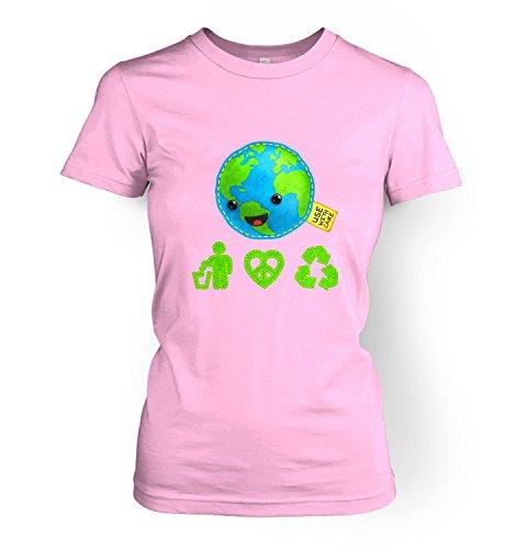 Care For Earth Womens T-shirt - Light Pink X Large (UK Size (Change Kids Light T-shirt)