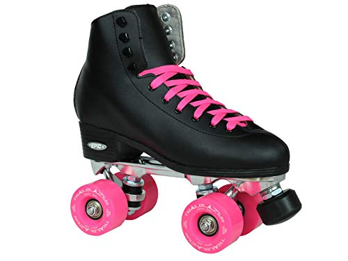 Epic Skates Epic Classic Black and Pink High-Top Quad Roller Skates