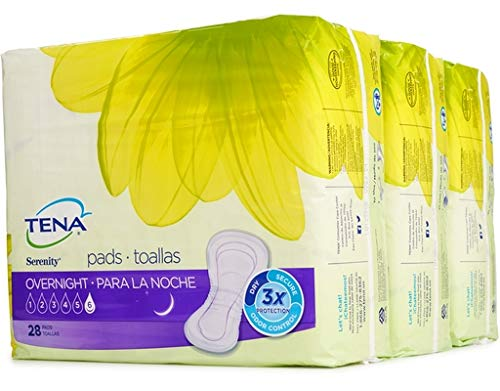 TENA Intimates Overnight Pads 28 Count (Pack of 3)