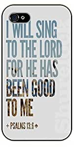 For Iphone 5/5S Case Cover Bible Verse - I will sing to the Lord - black plastic case / Verses, Inspirational and Motivational