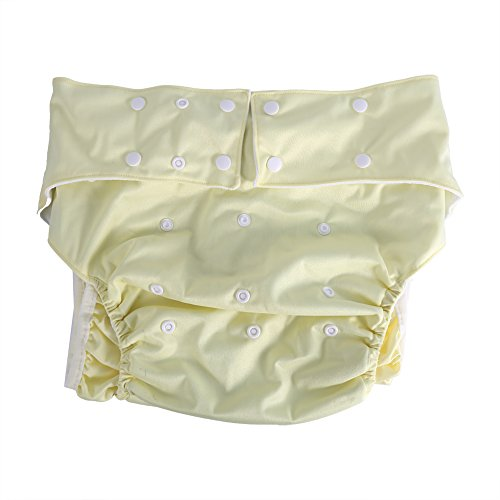 Reusable Ultra Absorbent Incontinence Pants, Adult Diaper Pants, with Double Rows of Snaps for Size Adjustable(2)