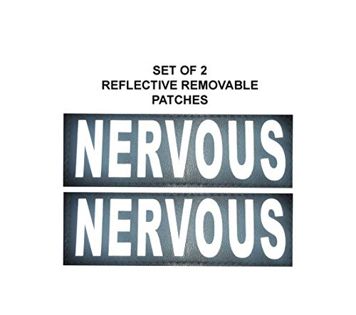 Doggie Stylz Set of 2 Reflective Nervous Removable Patches for Service Dog Harnesses & Vests.