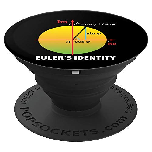 Euler's Identity Mathematics Day Mathematicians - PopSockets Grip and Stand for Phones and Tablets