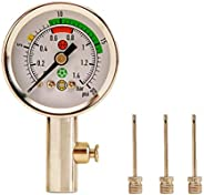 Actvivid Clasico Durable Ball Pressure Gauge with Built-in Release Valve Ideal for Volleyballs, basketballs, S