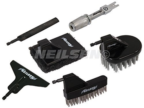 Neilsen 6 Piece Reciprocating Saw Attachment and Accessories, Wire Brushes, Scraper, Scourer by Neilsen by Neilsen