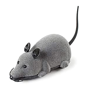 wuayi RC Funny Wireless Electronic Remote Control Mouse Rat Pet Toy for Cats Dogs Pets Kids Novelty Gift Toys for Kids…