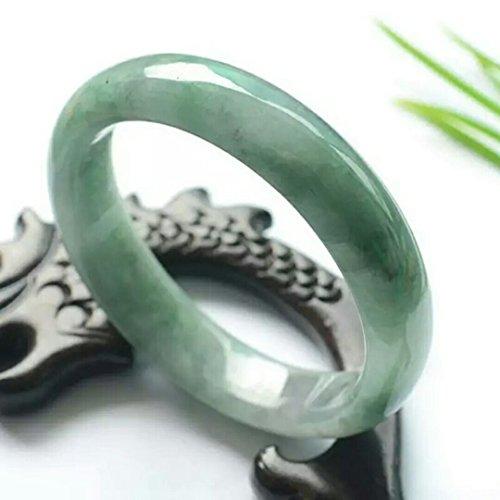 Shipment Natural Emerald Jade Bracelet Bangle Women Girls Models Light Green Jade Bracelets Jade Bracelets Floating Flowers (60 ()