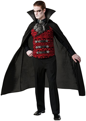 [Rubie's Costume Co Men's Scarlet Immortal Costume, Black/Red, Standard] (Adult Vampire Halloween Costumes)