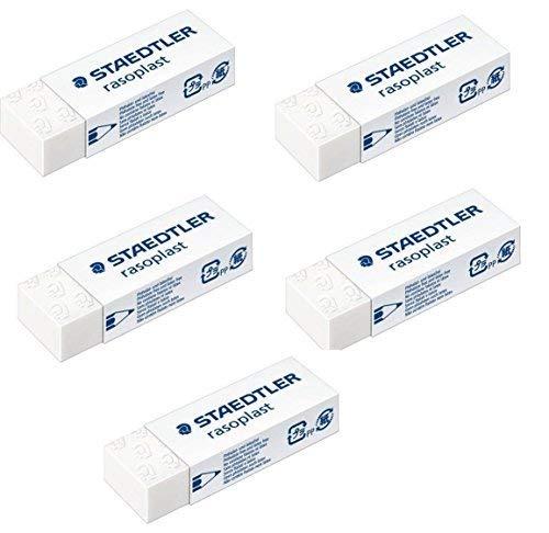 (Staedtler Large Rasoplast Pencil Eraser (526 B20) Pack of 5 Erasers)
