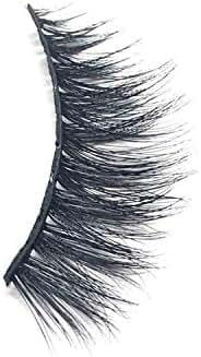 1Pair Luxury 3D False Lashes Fluffy Strip Eyelashes Long Natural Party mink lashes 3d mink extension eyelashes 1cm 1.5cm 10.18,6mm