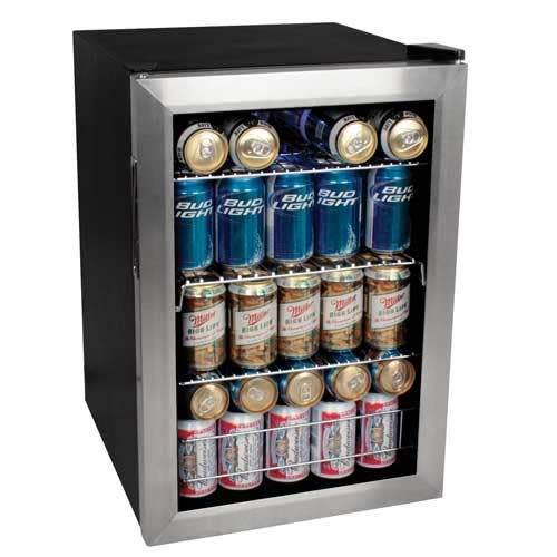 - EdgeStar BWC90SS 84 Soda Can Beverage Cooler - Stainless Steel