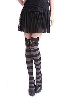 Wowlife Women's Legging Pant Cute Cat Pattern Printed Tattoo Pantyhose Stocking