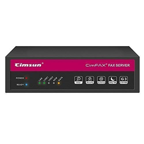 CimFAX T5 Two-line/Two-Port Fax Server Fax2email Remote login All-in-one Fax System 200 Users Send/Receive Fax from PC/Phone Fax Via Phone Line V.34 High Speed Fax Modem