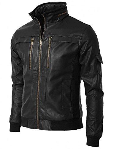 Laverapelle Men's Cowhide Real Leather jacket Black - 1510213 - (Factory Leather Jacket)