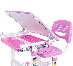 VIVO Height Adjustable Childrens Desk & Chair Set   Kids Interactive Work Station Pink (DESK-V201P)