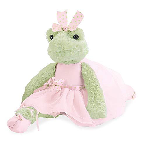 Bearington Juliette Pirouette Plush Stuffed Animal Ballerina Frog 15