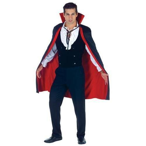 (Underwraps Men's 38 Inch Vampire Cape, Black/Red, One Size)